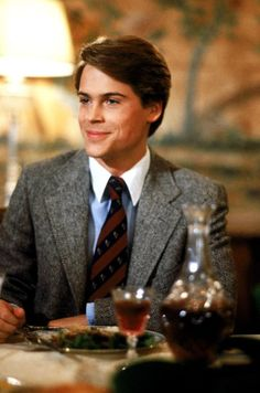 """Rob Lowe in """"Class"""" Rob Lowe Young, Rob Lowe 80s, Chris Traeger, Wayne's World, The Wedding Singer, Actor Studio, Raining Men, Cute Actors, Preppy Style"""
