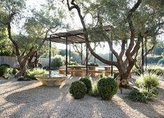 Gravel Patio With Pergola modern patio lights.Enclosed Patio Blue Ceilings gravel patio with pergola. Pea Gravel Patio, Gravel Landscaping, Landscaping Ideas, Inexpensive Landscaping, Dry Garden, Garden Beds, Garden Edging, Garden Borders, Garden Pool