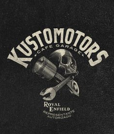 Diseño de marca para KUSTOMOTORS México.https://www.facebook.com/KUSTOMOTORS?fref=ts