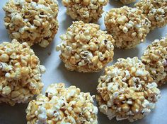 Pecan Cashew Popcorn Balls | These homemade snacks make sure no one will ever get bored with their food at lunchtime.  These unexpected snack will keep your children guessing what they'll find in their lunchbox.