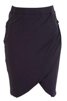 Hammock & Vine Dresses Side Drape Jersey Skirt - Womens Knee Length Skirts - For everything but the girl
