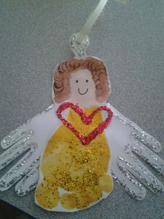 Foot and hand print angel ornaments                                                                                                                                                                                 More