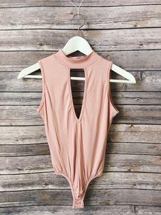 Light Pink Key Hole Body Suit