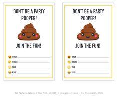 http://www.livinglocurto.com/2016/04/emoji-party-printables/