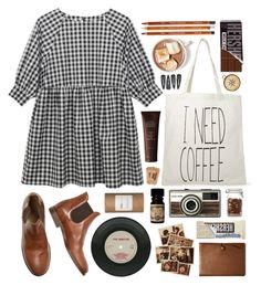 """""""Smock"""" by hanaglatison ❤ liked on Polyvore featuring Forever 21, Très Pure, Coach and John Masters Organics"""