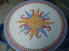 mosaic sun tables   via nancy stukey