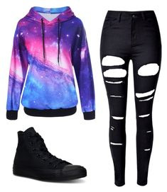 """☺"" by faithlovexo on Polyvore featuring WithChic and Converse"