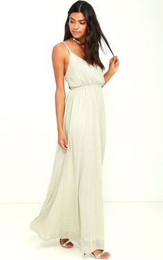 Feel The Rush Light Gold Maxi Dress | Reveal the Price & Where to Buy by Clicking on the Picture