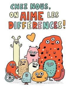 Ici on aime la différence French Teaching Resources, Teaching French, Teaching Spanish, Teaching Reading, Book Cover Design, Book Design, Cult Of Pedagogy, Autism Education, Inclusion Classroom
