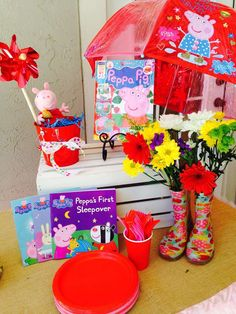 Peppa Pig birthday party! See more party planning ideas at CatchMyParty.com!