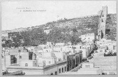 Almería. Muralla del cerro de San Cristóbal o muralla de Jayrán (entre 1906 y 1915). Tarjeta postal. Colección Moya, nº 3. Impresa por Fototipia de Hauser y Menet (Madrid). Procedencia: Instituto del Patrimonio Cultural de España.