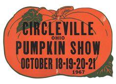 Large Circleville Ohio Pumpkin Show poster 1967