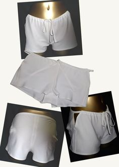 This silk shorts was produced inspired by Japanese hakama.