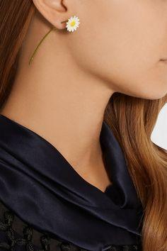 Single Earring Trend: 20 to Buy Now - Maison Martin Margiela Silver-plated… Cute Jewelry, Jewelry Accessories, Jewelry Design, Unique Jewelry, Earring Trends, Ear Piercings, Statement Earrings, Fashion Jewelry, Bling