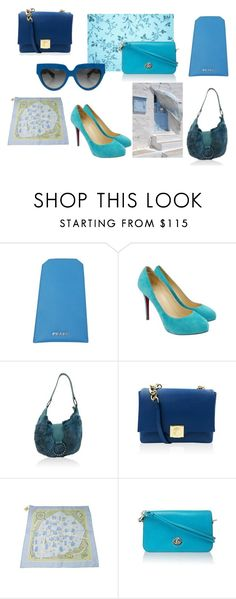 """""""Light Blue Vibes"""" by alexissuitcase on Polyvore featuring Versace, Hermès and Prada"""