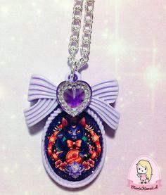 Collar Lila Luna Sailor Moon por mariakawaiistore en Etsy #sailormoon #kawaii #anime #harajuku #necklace