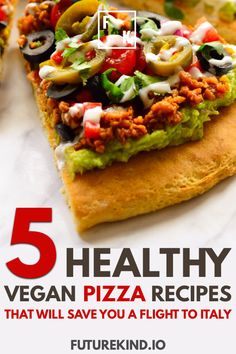 There's nothing tastier than a healthy vegan pizza, except maybe 5 healthy vegan pizza recipes to choose from. There's nothing tastier than a healthy vegan pizza, except maybe 5 healthy vegan pizza recipes to choose from. Vegan Recipes Beginner, Delicious Vegan Recipes, Healthy Recipes, Healthy Pizza, Meatless Recipes, Eating Healthy, Healthy Food, Vegan Pizza Recipe, Pizza Recipes