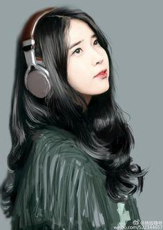 IU 아이유 Fan Art by 绝版稳爷