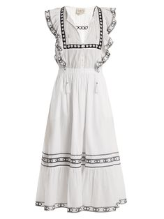 Click here to buy Sea Amelie lace-trimmed ruffled cotton dress at MATCHESFASHION.COM