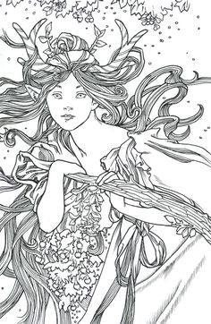 Mucha's Deer by ~Lorrain on deviantART