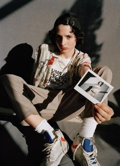 Finn Wolfhard for i-D magazine