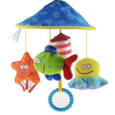 Soft Plush Toy Rattles Crib Bed Bell Educational Toy Rotate Wind-up Twis