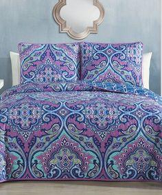 Look at this #zulilyfind! Purple Cantara Quilt Set #zulilyfinds