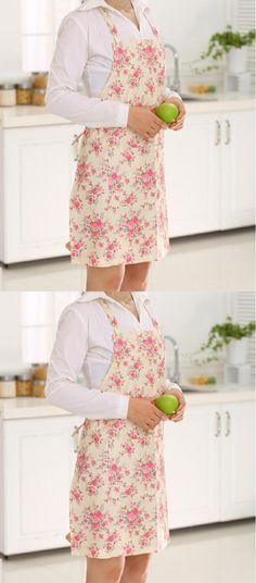2017 Free Shipping Waterproof Colorful Floral PVC Aprons for Woman Work Bib Kitchen Aprons Cleaning Home Textiles Tablier Enfant