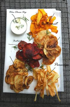 Snacks – Vegetable Chip and Dip Beet, Parsnip, Sweet Potato & Squash Chips. acorn squash for the sweet potatoes to make gaps friendly Healthy Chips, Healthy Snacks, Healthy Eating, Healthy Cake, Vegetarian Recipes, Snack Recipes, Cooking Recipes, Healthy Recipes, Skillet Recipes