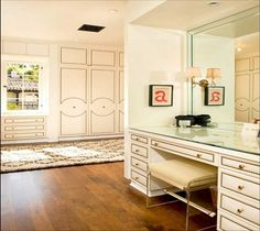 Glorious upholstery and nailhead trim on doors and furniture