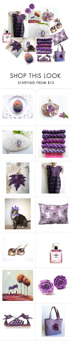 """""""Purple Delights"""" by inspiredbyten on Polyvore featuring Chanel"""
