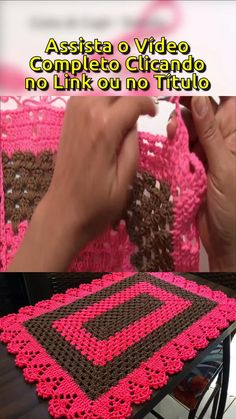 Granny Pattern, Crochet Coaster Pattern, Crochet Square Patterns, Crochet Blanket Patterns, Crochet Motif, Diy Crochet, Crochet Stitches, Crochet Baby, Crochet Table Runner