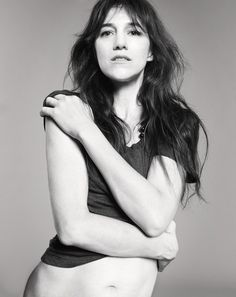 Charlotte Gainsbourg shot by Jan Welters for ELLE France August 2014 | lookbook.com