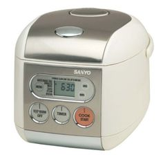 Sanyo ECJ-F50S Micro-Computerized 5-Cup (Uncooked) Rice Cooker and Steamer: Home & Kitchen