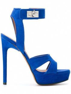 91e36bb35439 New Bright Blue Heels for Spring 2018 - Givenchy Shark Lock Sandals Heels   Shoeshighheels Givenchy