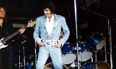 Elvis on stage in Lubbock in november 8 1972.