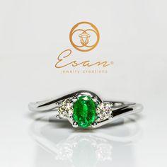 Inel de logodna din aur cu smarald si diamante ES80 Aur, Enamel, Model, Accessories, Jewelry, Isomalt, Mathematical Model, Jewellery Making, Jewerly