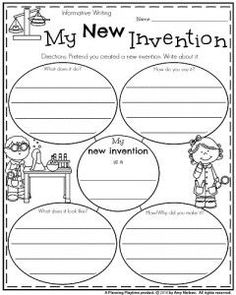 First Grade Informative Writing Prompt - My New Invention