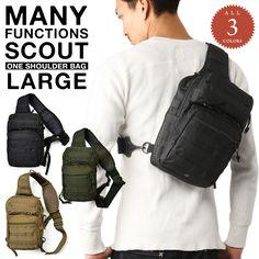ミリタリー バッグ 多機能 ミリタリー スカウトワンショルダーバッグ Large 3色 #ミリタリーセレクトショップWIP #MILITARY #bag #backpack #バッグ #ショルダーバッグ #ボディバッグ