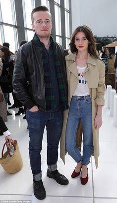 Fashion fiends: Sam Doyle (L) and Sai Bennett attended the presentation in style
