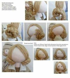 How to give a rag doll hair text is in russian but the pictures are pretty good i can figure this out – ArtofitThe content for you if you like fabric dolls fabricdolls – Artofit Doll Wigs, Doll Hair, Peg Doll, Clothespin Dolls, Fabric Toys, Fabric Sewing, Sewing Dolls, Doll Tutorial, Fairy Dolls