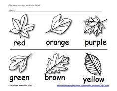 Classroom Freebies Too: Fall Color Word Printable