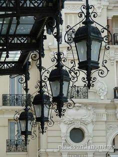 Streets lamps,Paris.