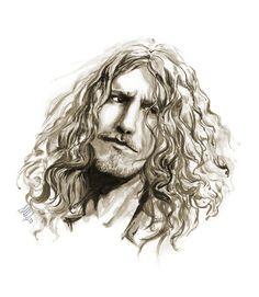 """Percy"" by calamitafrigo.deviantart.com on @DeviantArt - #RobertPlant, in all his majiestic beauty #art #drawing #ink #music #inktober #led zeppelin"