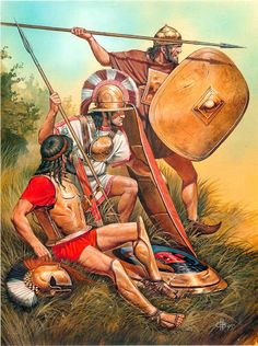 Estos son la primitiva falange romana y sus auxiliares. La época de los reyes etruscos.