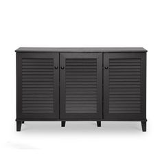 Baxton Studio Fergus Espresso Wood Cabinet | Overstock.com Shopping - The Best Deals on Media/Bookshelves
