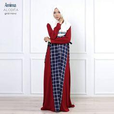 Gamis Amima Alodita Dress Grid Navy - baju muslim wanita baju muslimah Untukmu yg cantik syari dan trendy . . Size: S ---> 94   137 M ---> 100  140 L ---> 106   140 . . Material bahan : - Material bahan : crepe polos  woolpeach pattern Nyaman digunakan seharian bahannya jatuh dan flowy - OFFICE dan DAILY dress dengan 2 warna kontras yang simpel dan cutting line menarik memberikan kesan #slim/kurus. - Bagian badan dress pattern dengan bukaan zipper depan #busuifriendly dengan manset tangan…