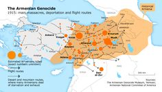 Ottoman Turks commit genocide against the Armenians  Caused  significant Armenian diasporia and mass killings of non-Muslims