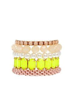 New Look Neon Nude Mix Multipack Bracelet