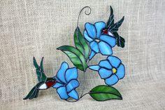 Stained Glass Hummingbirds Stained Glass Bird Suncatcher